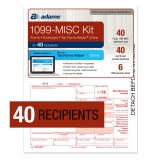 1099 MISC NEC Tax Forms, Envelopes & Online Software Kit, 40 Forms, 40 Envelopes and 6 Each of 1096 Forms