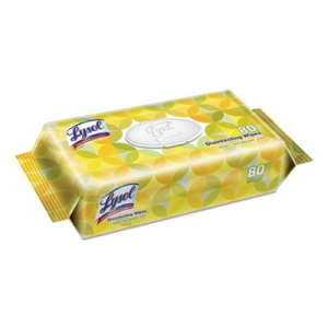 LYSOL® Disinfecting Wipes Flatpacks, 6.75 x 8.5, Lemon/Lime Blossom, 80 Wipes/Flat Pack